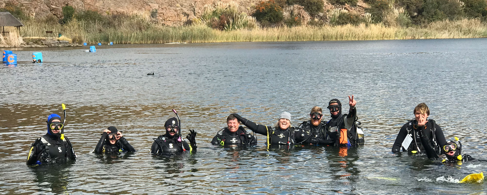 Scuba Divers Diving Bass Lake